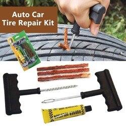 Car Tire Repair Tools Tubeless Tyre Car Puncture Repair Plug Kit Needle Patch Fix Tool Auto Useful Sets Car Auto Tire Repair