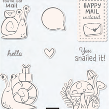 snail Transparent Clear Stamps and cutting dies for DIY Scrapbooking/Card Making/Kids Christmas Fun Decoration Supplies