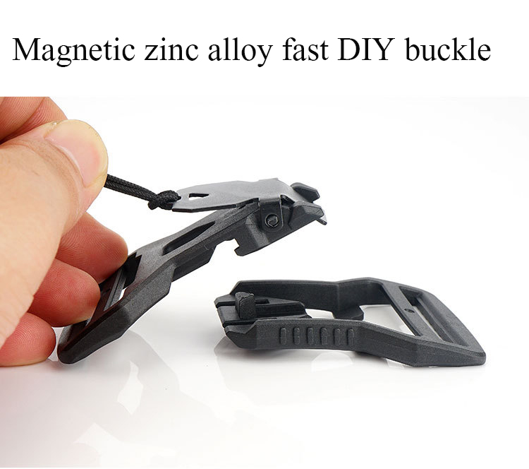 2019 New Military Magnetic Zinc Alloy Fast DIY Buckle Rugged And Fast Opening And Closing Tactical Vest Belt Buckle