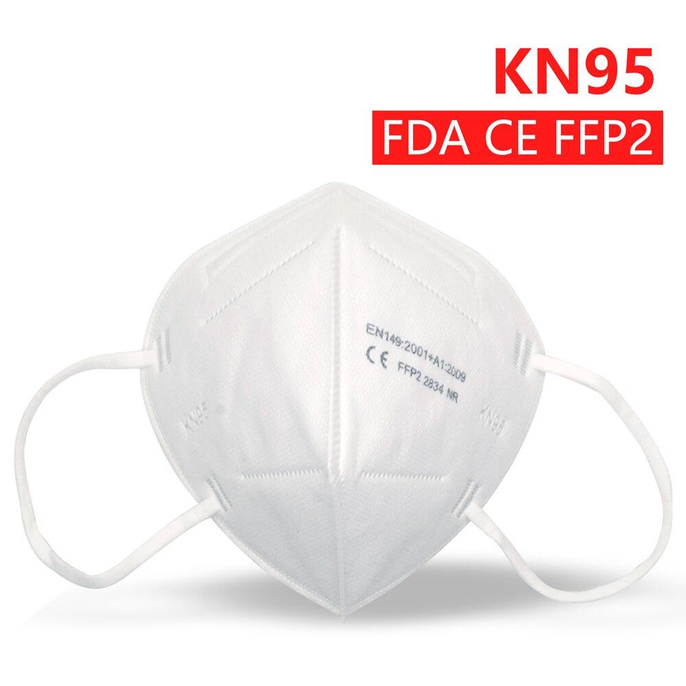 Респиратор KN95 Mascarillas пылезащитный Анти-туман и дышащий FFP2 маски для лица фильтрации рот маски 5-Слои рот защитное покрытие