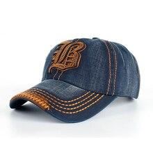 2019 New Brand Letter B Embroidered Denim Snapback Baseball Cap for Men Caps Full Closed Patchwork Dad Hat Women