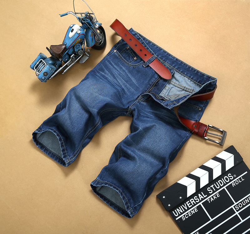 2018 Summer Thin Section Denim Shorts Men's Straight Slim Shorts MEN'S Fifth Pants Loose-Fit Versatile Large Size
