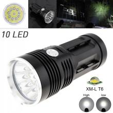 LED Flashlight Waterproof Super Bright 3000LM 10x XML-T6 LEDFlash Light Torch Lamp with 3 Modes White Light for Hunting Fishing sitemap 19 xml