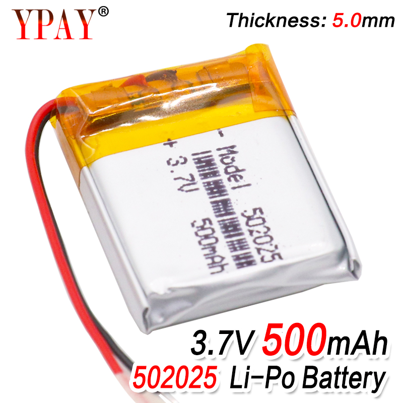 1/2/4 Pieces Rechargeable Li-polymer 3.7v 500mah 502025 Battery For PSP Smart Watch LED Lamps Bluetooth Speakers Mini Cameras(China)
