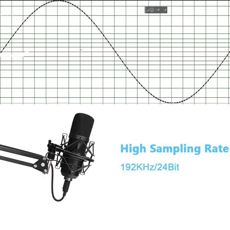 Usb микрофон комплект Usb компьютер кардиоидный микрофон Подкаст конденсаторный микрофон с профессиональным звуковым чипсетом для ПК караоке, Youtub