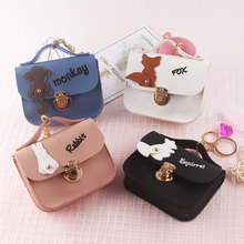 Women Wallet PU Leather Mini Cute Hand Holding Purse Credit