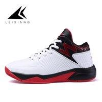 Novo homem branco de alta qualidade micro fibra sapatos de basquete amortecimento luz tênis de basquete ao ar livre sapatos esportivos