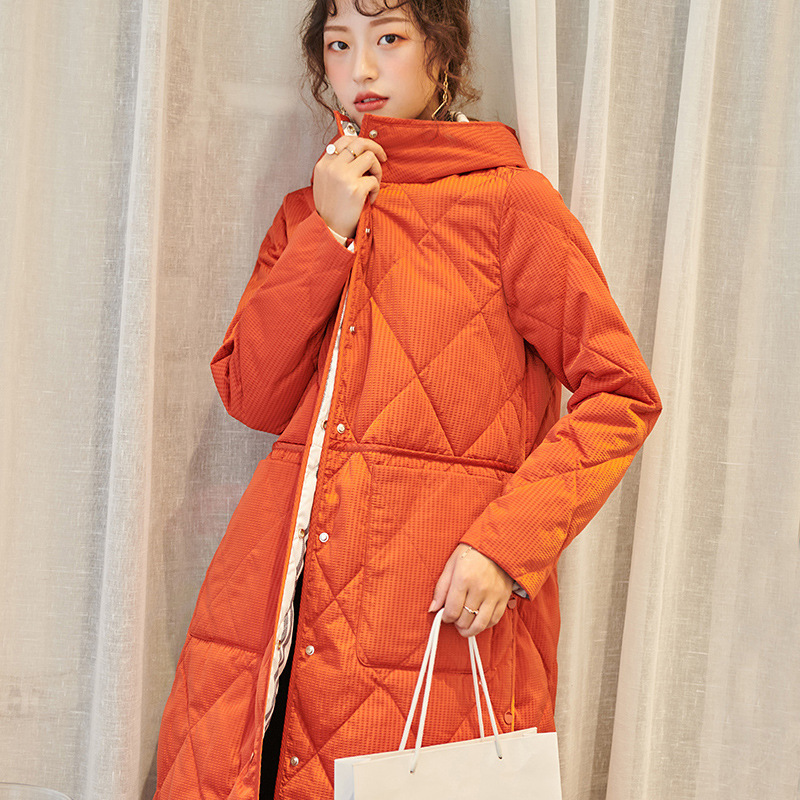 Loose Warm Light and Slim   Down   Jacket with High Split on Both Sides In 2019 Single Breasted Women   Down     Coat