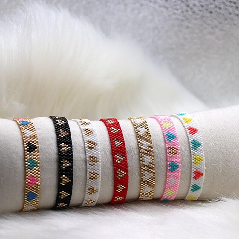 2020 Japan Miyuki friendship boho Europe and the United States style weaving love adjustable rope Joker popular bracelet stock