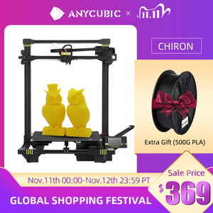Image 1 - ANYCUBIC Chiron 3D Printer Large Size 400x400x450mm³ Extruder Dual Z Axis FDM 3D Printers PLA Filaments 3D Printing