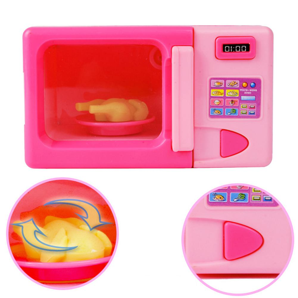 HobbyLane Kids Simulation Kitchen Microwave Oven Toy Kit Play House Game Educational Puzzle Toy Gift
