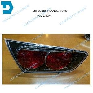 Image 5 - Боковой задний фонарь внутреннего водителя для Lancer ex, пассажирский боковой фонарь для EVO 10 2007 2014, задний тормоз заднего вида черного цвета, 2 версии