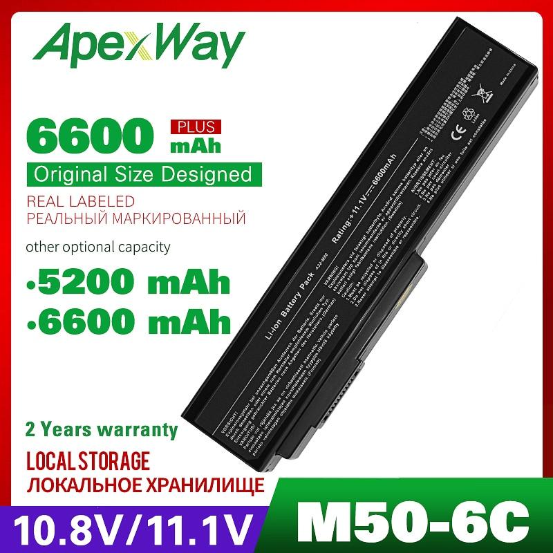 11.1V Laptop Battery N53SV For Asus N53 N61 N43 B43 X5M X64 Series N53J N53JF N53JG N53JQ N61J N61Jq N61V N61Vg A32-M50 A32-N61