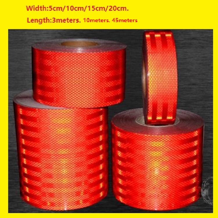 High Visibility Super Strong Reflective Red Car Decoratiive Sticker Reflective Self-adhesive Tape Road Traffic Warning Sign