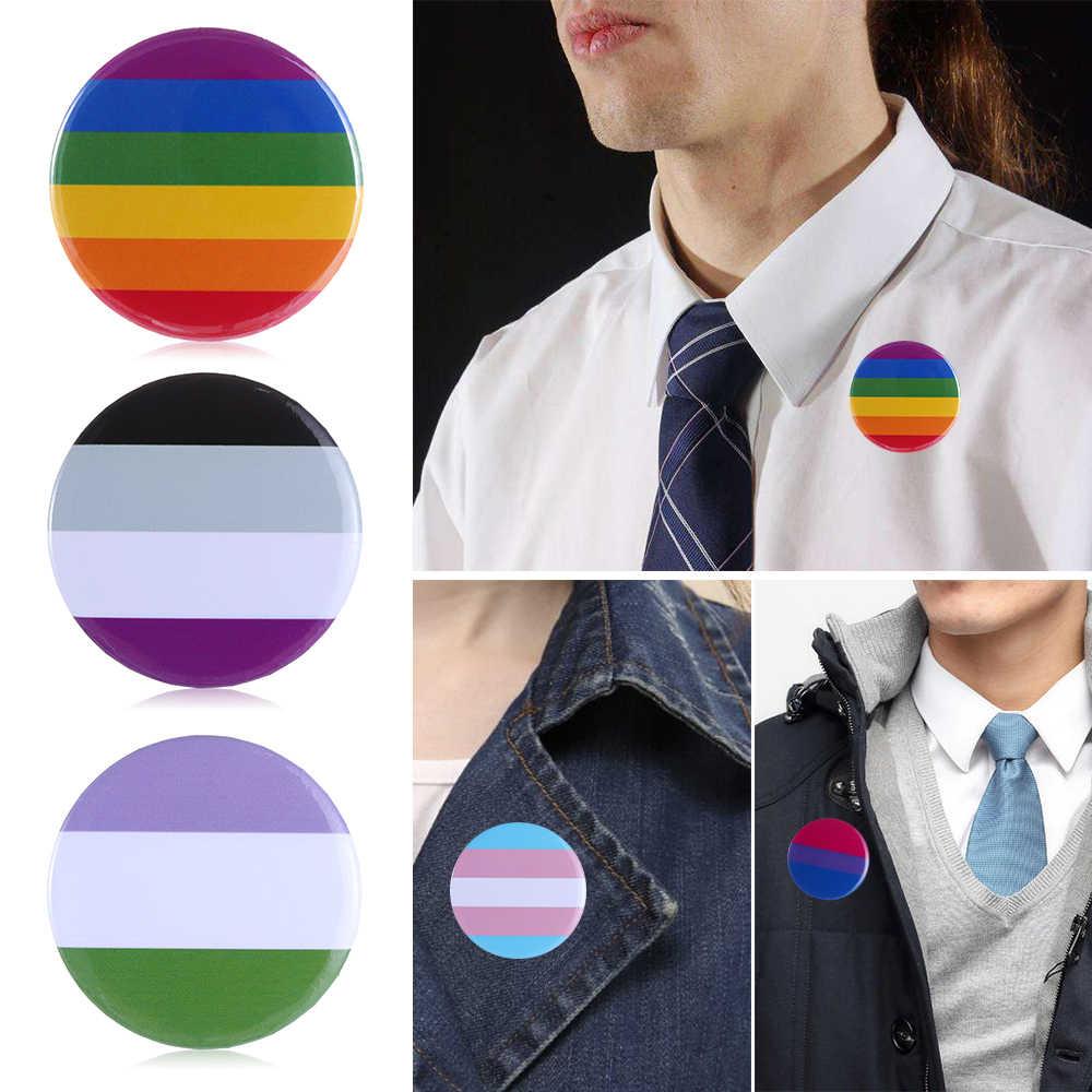 1 Pc Lgbt Rainbow Gay Broches Gay Badge Denim Hoed Broches Mannen Vrouwen Kleding Kraag Pin Sieraden Naaien Accessoires