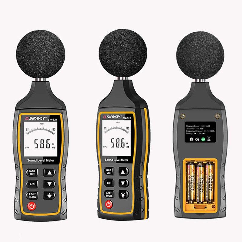 SNDWAY Digital Sound Level Meter 6mm Smart Sensor Portable Noise Meter Handheld Decibel Meter Audio Detector SW523