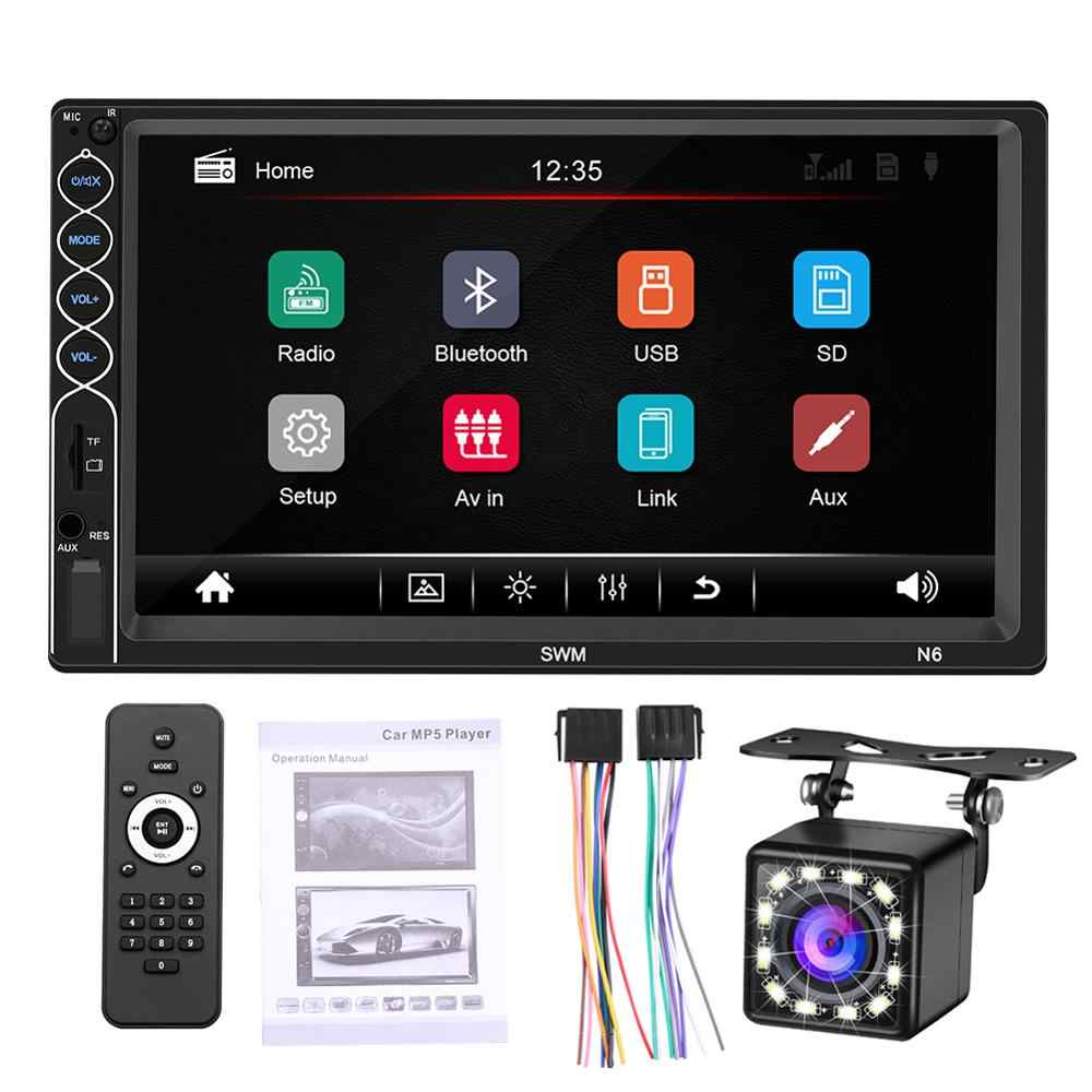 Double Din 7 Inch Car FM Radio MP5 Player 2 Din Touch Screen In-Dash Stereo Car Audio Autoradio with Bluetooth Hand Free
