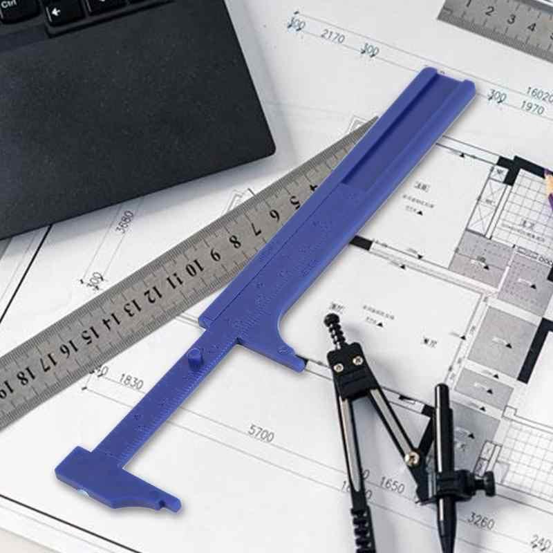 0-80/100mm DIY Doble escala Calibre Vernier grabado láser lectura clara Coequal sistema manómetro regla micrométrica herramienta de medición