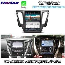 Liorlee 12.1 HD Super Screen For Mitsubishi PAJERO Sport 2016 2019 Car Radio Android Carplay GPS Navi maps Navigation