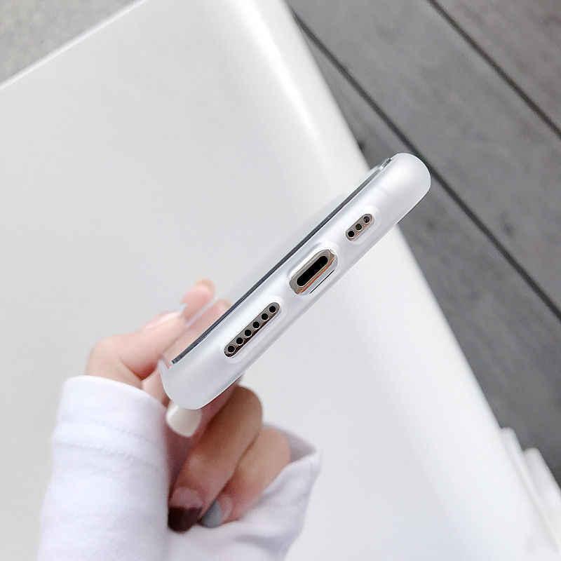 Funda mate a prueba de golpes para iPhone 11 Pro Max XR XS Max X 8 7 6S Plus funda dura galvanizada transparente para iPhone 11
