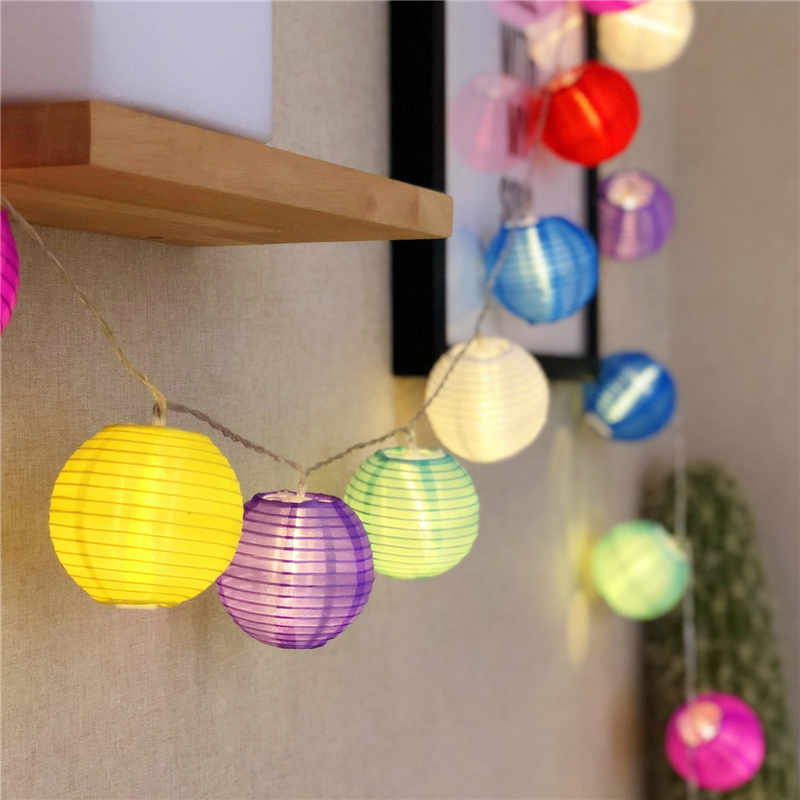 Fairy Chinese Fabric Color Lantern Battery USB Plug String Lights 3M Led Decoration For Christmas Garland On The Window New Year