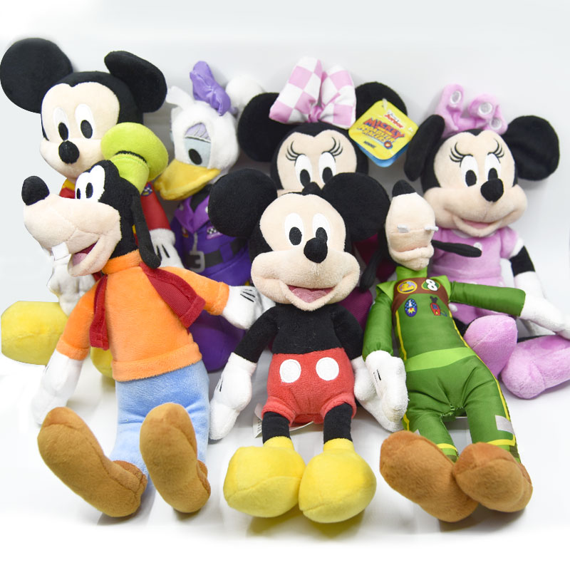 25cm Minnie Mouse Mickey Mouse Pluto Dog Donald Duck Goofy Dog  Plush Toys Stuffed Animals Daisy Baker Soft Toys Kids Toys
