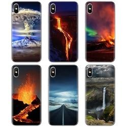 Силиконовый чехол для Huawei Y6 Y5 2019 для Xiaomi Redmi Note 4 5 6 7 8 Pro Mi A1 A2 A3 6X 5X 7A чудеса природы вулкана Исландии