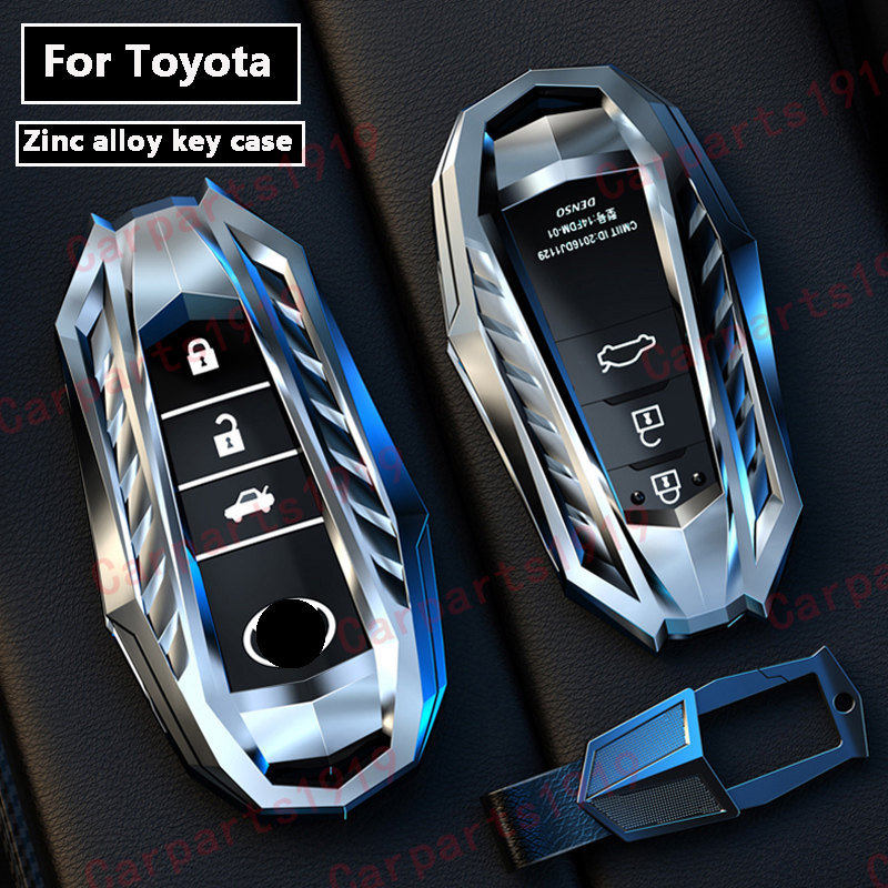 High quality New Zinc alloy car key case shell Full cover For Toyota Crown Highlander new RAV4 Camry Carola Leling Prado 2020
