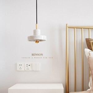 Пост-современное искусство ресторан подвесной светильник скандинавский простой обеденный столик прикроватная кровать три Круглый Бар Кос...