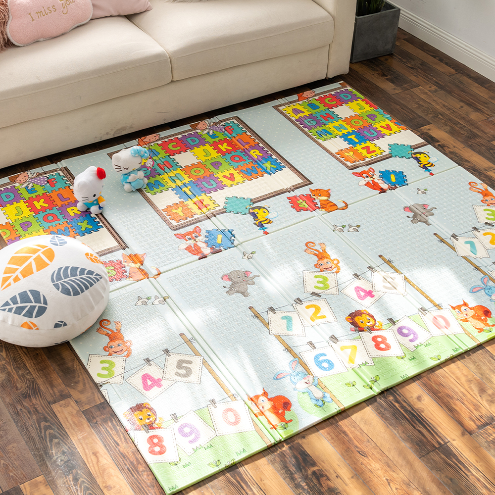 Infantrain Baby Folding Playmat Thickening Environmental Protection Household Children Carpet Floor Puzzle Mat 180x200x1CM Thick