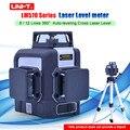UNI-T лазерный уровень Зеленый 3D 12 линий 8 линий 360 градусов автоматическое выравнивание поперечный лазерный измеритель уровня LM572G LM573G LM573LD