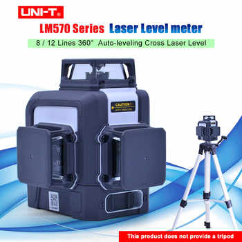 UNI-T Laser Ebene Grün 3D 12 Linien 8 linien 360 grad Auto-nivellierung Kreuz Laser Level meter LM572G LM573G LM573LD