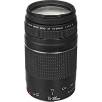 Canon camera lens EF 75 300mm F/4 5.6 III Telephoto Lenses for 1300D 650D 600D 700D 77D 800D 60D 70D 80D 200D 7D T6 T3i T5i