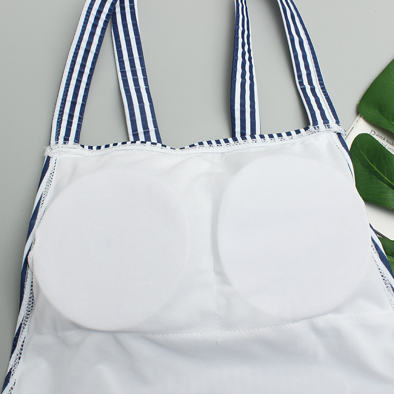 2019 New Style Triangular One-piece KID'S Swimwear GIRL'S Large Children Baby Hot Springs Fashion Cute Swimwear