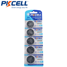 5 X PKCELL 3V CR2430 lityum pil DL2430 5011LC KCR2430 L20 hücre düğmesi sikke pil için izle elektronik
