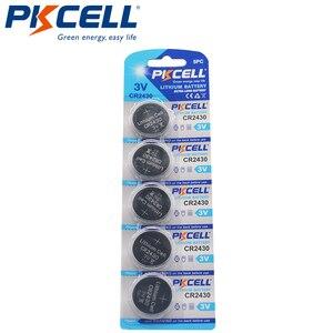 Image 1 - 5 X PKCELL 3V CR2430 lityum pil DL2430 5011LC KCR2430 L20 hücre düğmesi sikke pil için izle elektronik