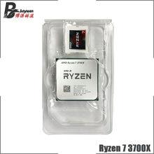 AMD Ryzen 7 3700X R7 3700X 3.6 GHz sekiz çekirdekli on altı iplik CPU işlemci 7NM L3 = 32M 100-000000071 soket AM4 yeni ama hiçbir fan