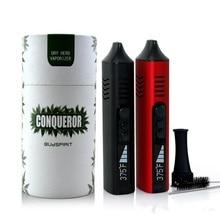 Original Conqueror Dry Herb Vaporizer E Cigarettes 2200mAh Temp Control Battery Ceramic Heating Chamber Herbal Wax Vape Pen Kit
