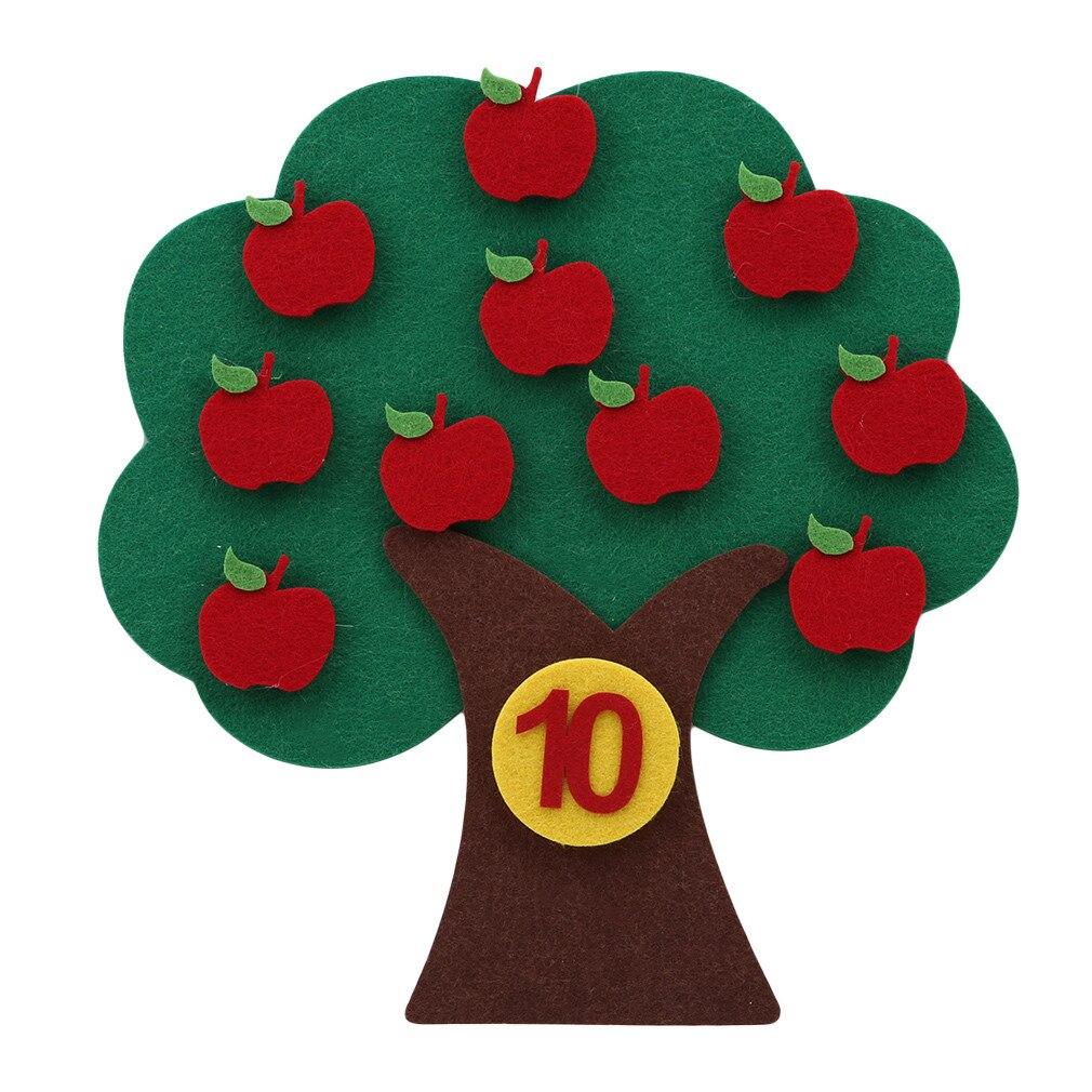 Montessori Teaching Aids Apple Trees Math Toys Teaching Kindergarten Manual Diy Weave Cloth Early Learning Education Toys
