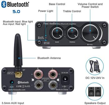 Fosi Audio Bluetooth 2 Channel Sound Power Stereo Amplifier  2