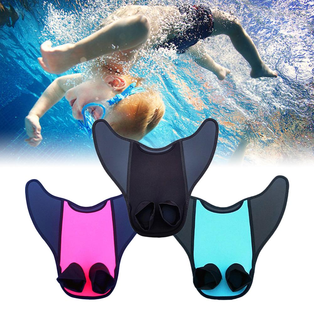 Swimming Kids Adults Mermaid Diving Monofin Swimmable Tails Fin Training Flipper