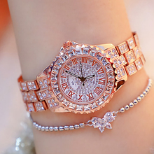 Watches Woman 2020 Famous Brand Crystal Fashion Quartz Ladies Wrist Watches Bling Diamond Rose Gold Women Wristwatch Reloj Mujer