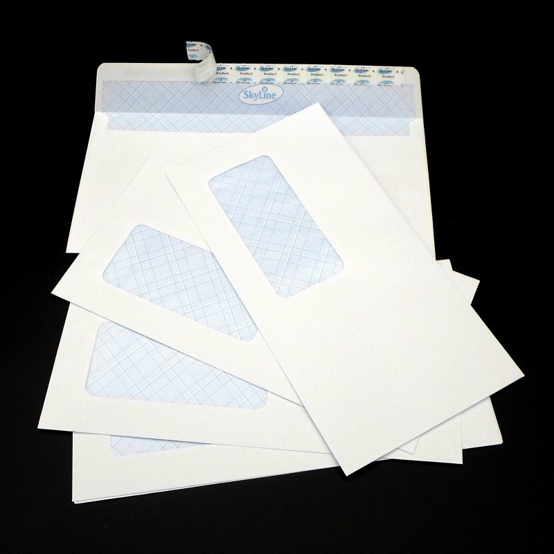 No. 5 Window Envelope 115X225 White Release Paper 80G Bank Confidentiality Envelope Skyline Envelope