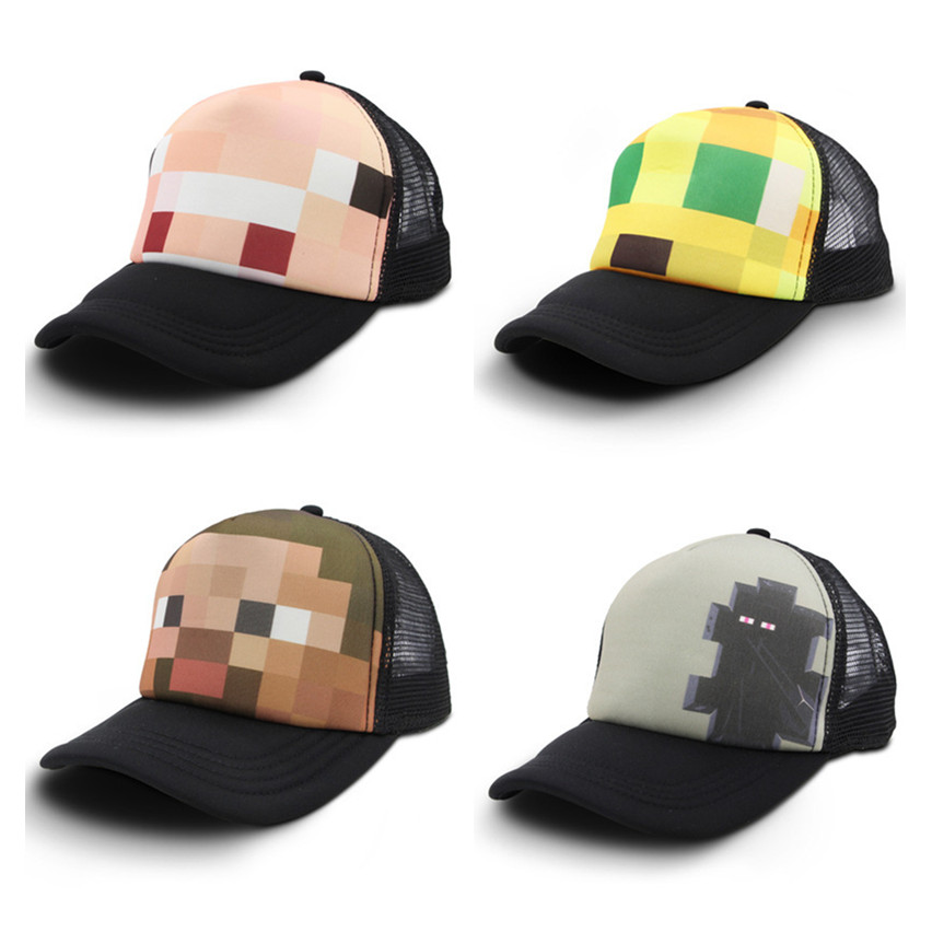 Teenager Craft Hat Snapback Baseball Cap Jinx Youth Game Pig Cat Steve Kids Gift Sunhat