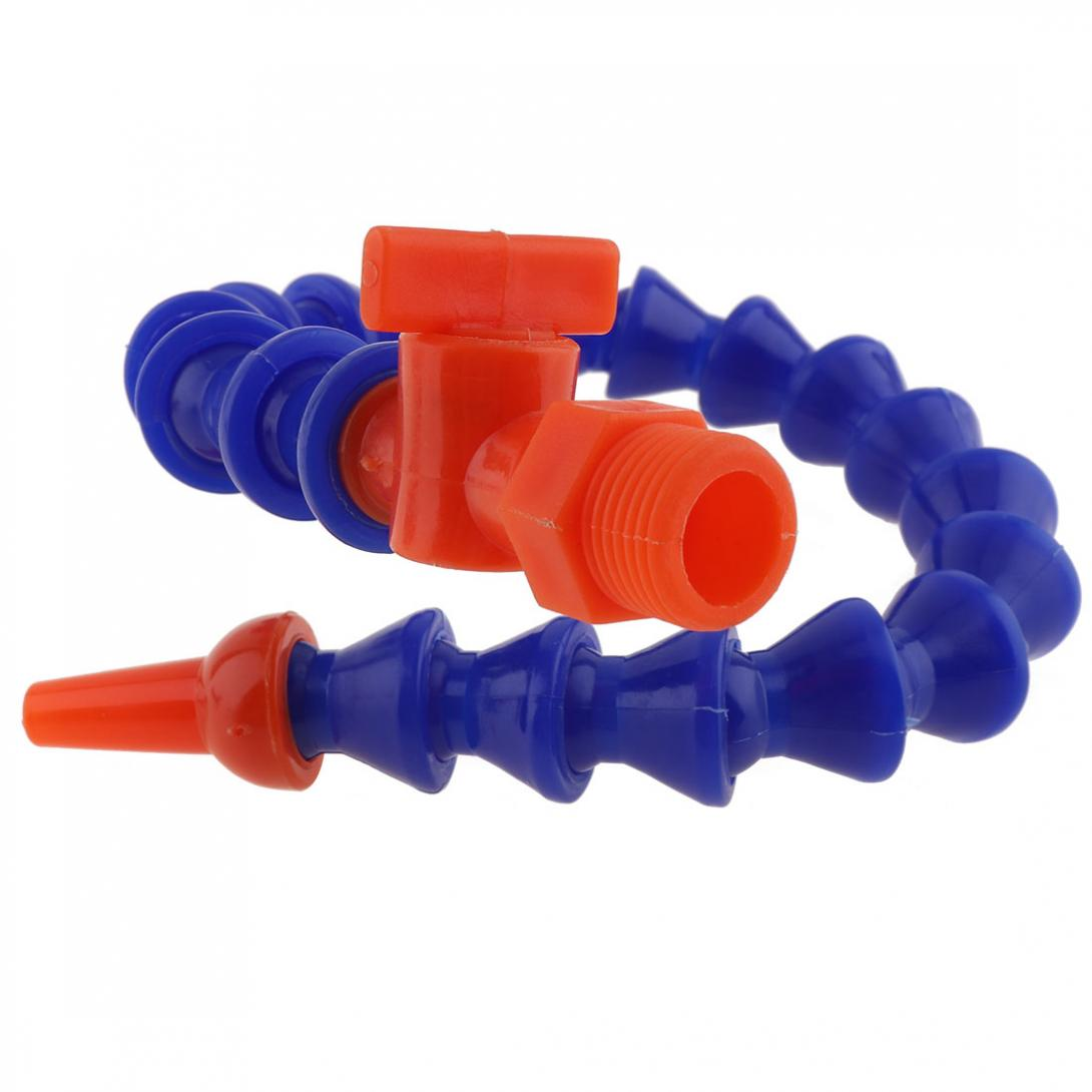 1/4 Inch 300mm Round Nozzle Plastic Flexible Water Oil Cooling Tube With Switch  For CNC Machine / Milling / Lathe