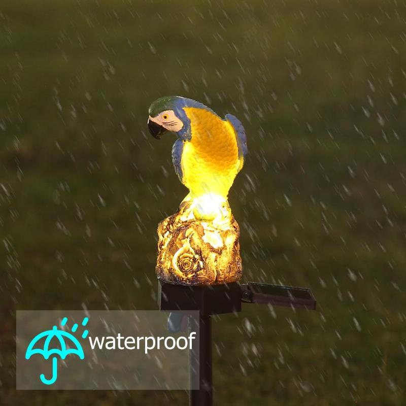 Solar Power LED Owl Parrot Lawn Light Outdoor Energy-Saving Portable Dimension-Free Waterproof Garden Landscape Lamp Drop Ship
