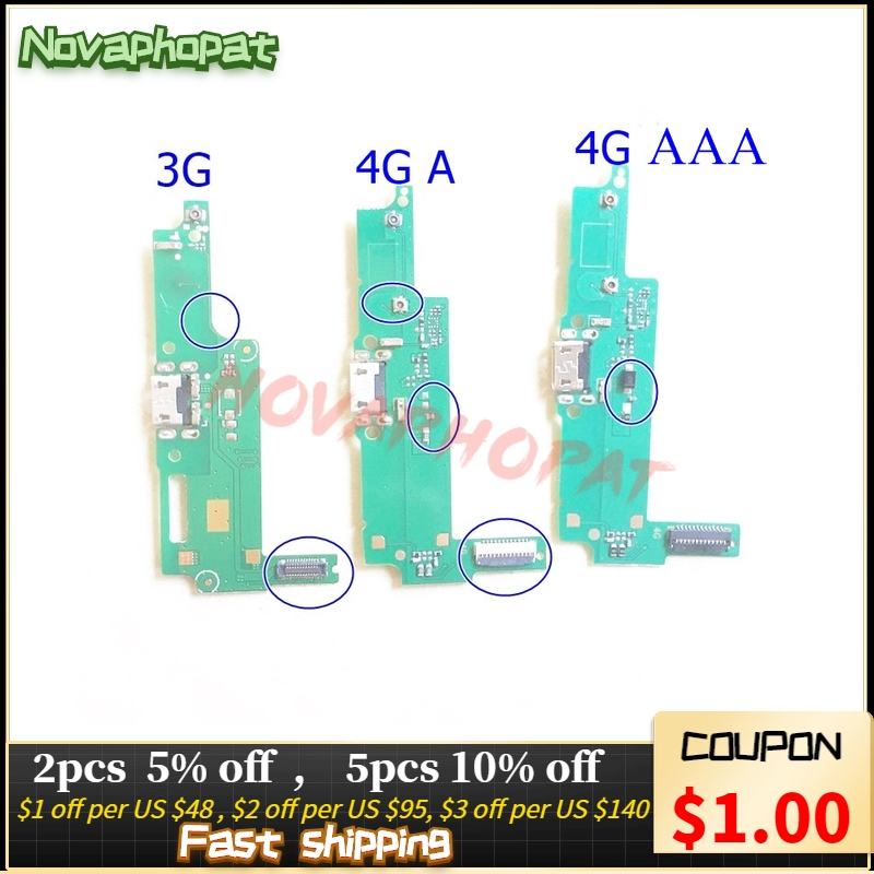 Novaphopat 3G 4G Y3ii Y3 2 Charger Port Board For Huawei Y3-2 Y3-II USB Dock Charging Port Data Transfer Connector Flex Cable