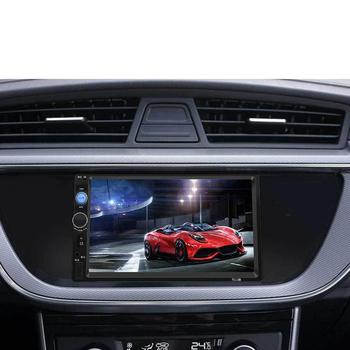 7010B 7 Inch DOUBLE 2DIN Car MP5 Player BT Touch Screen Stereo Radio HD Multimedia player With 4 Light Camera image
