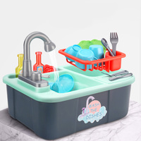 simulation kitchen game toys Kids Plastic Dishwasher Toy Pretend Play Kitchen Toy Set Dishwasher Sink Early Education Toy