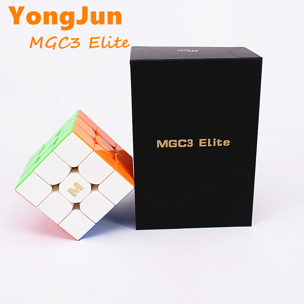 YongJun 3x3x3 Cube MGC3 Elite Magnetic 3x3x3 Magic Cube Yongjun MGC V3 3x3x3 Magnetic Speed Cube MGC Elite 3x3 Puzzle Cube